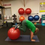 stability ball tuck ins