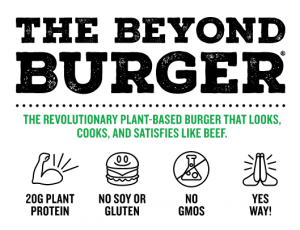 beyond burger nutritional information