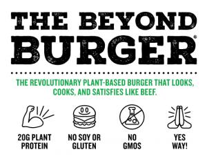 beyond burger nutritional information