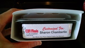 individual prepared icon meal in container