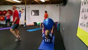 stability ball pass