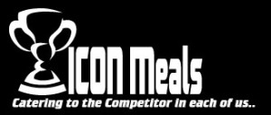 icon meals catering to the competitor in each of us logo