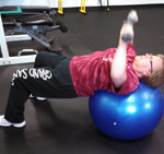 chest presses on stability ball