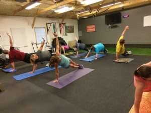 t ups being performed in boot camp class in catalyst 4 fitness studio