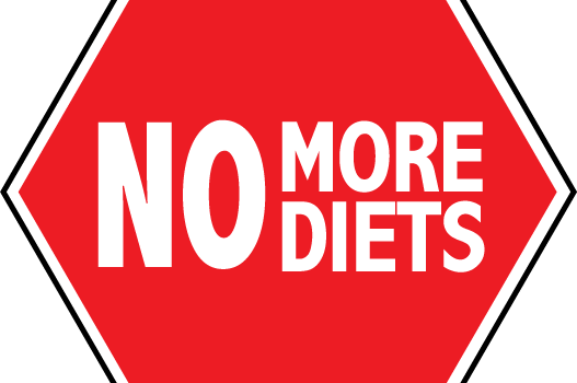 no more diets sign