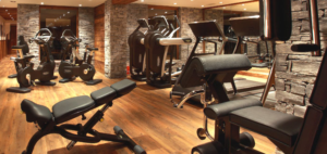 pieces of gym equipment in a house