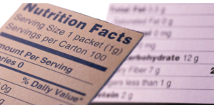a generic nutrition label