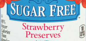 sugar free strawberry preserves label