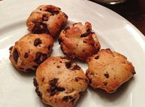 quest bar chocolate chip cookie dough baked into cookies