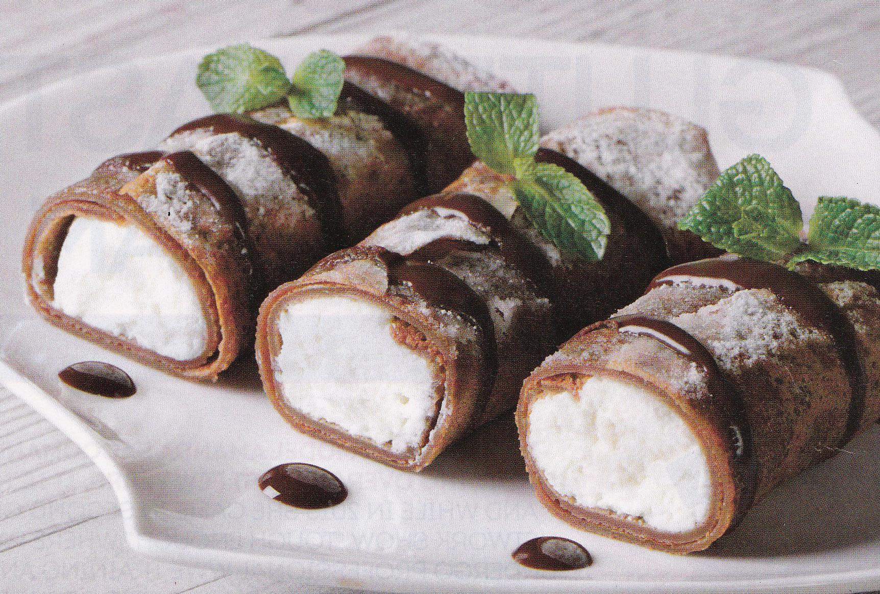 chocolate cheesecake crepes