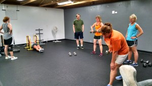back exercises in group fitness class