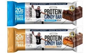 muscle tech protein candy bars chocolate caramel peanut and chocolate deluxe