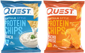 quest nutrition ranch and nacho cheese tortilla chips