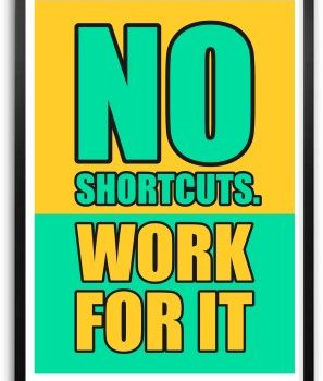 no shortcuts work for it sign