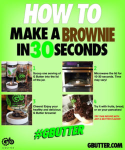 g butter high protein low calorie brownie