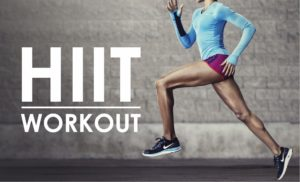 hiit workout sign