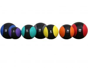 seven hard surface medicine balls