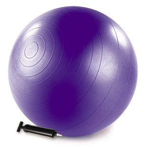purple stability ball with air pump