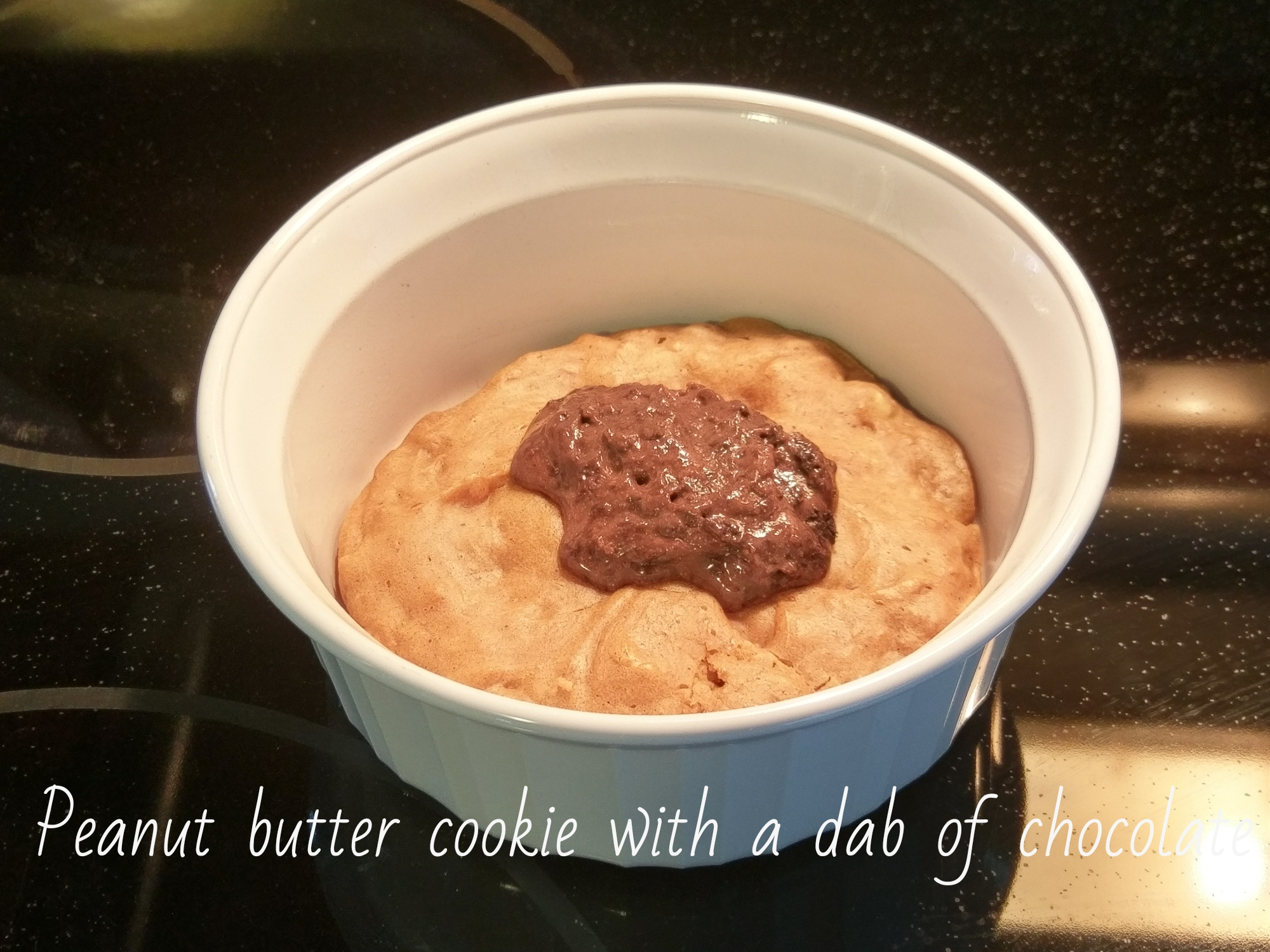 Peanut Butter Cookie with Chocolate Drop