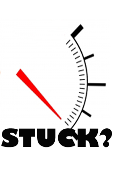 gauge pointing to being stuck