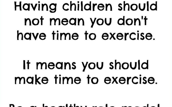 moms should exercise sign