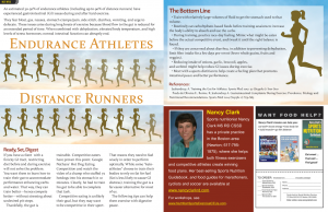 list of foods and drinks for endurance athletes