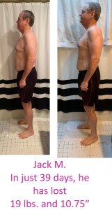 before and after photos after 39 days