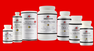 Catalyst 4 Fitness supplement line red background